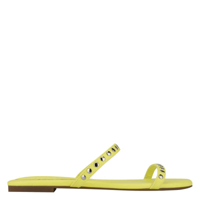 Brandie Flat Studded Slide Sandals