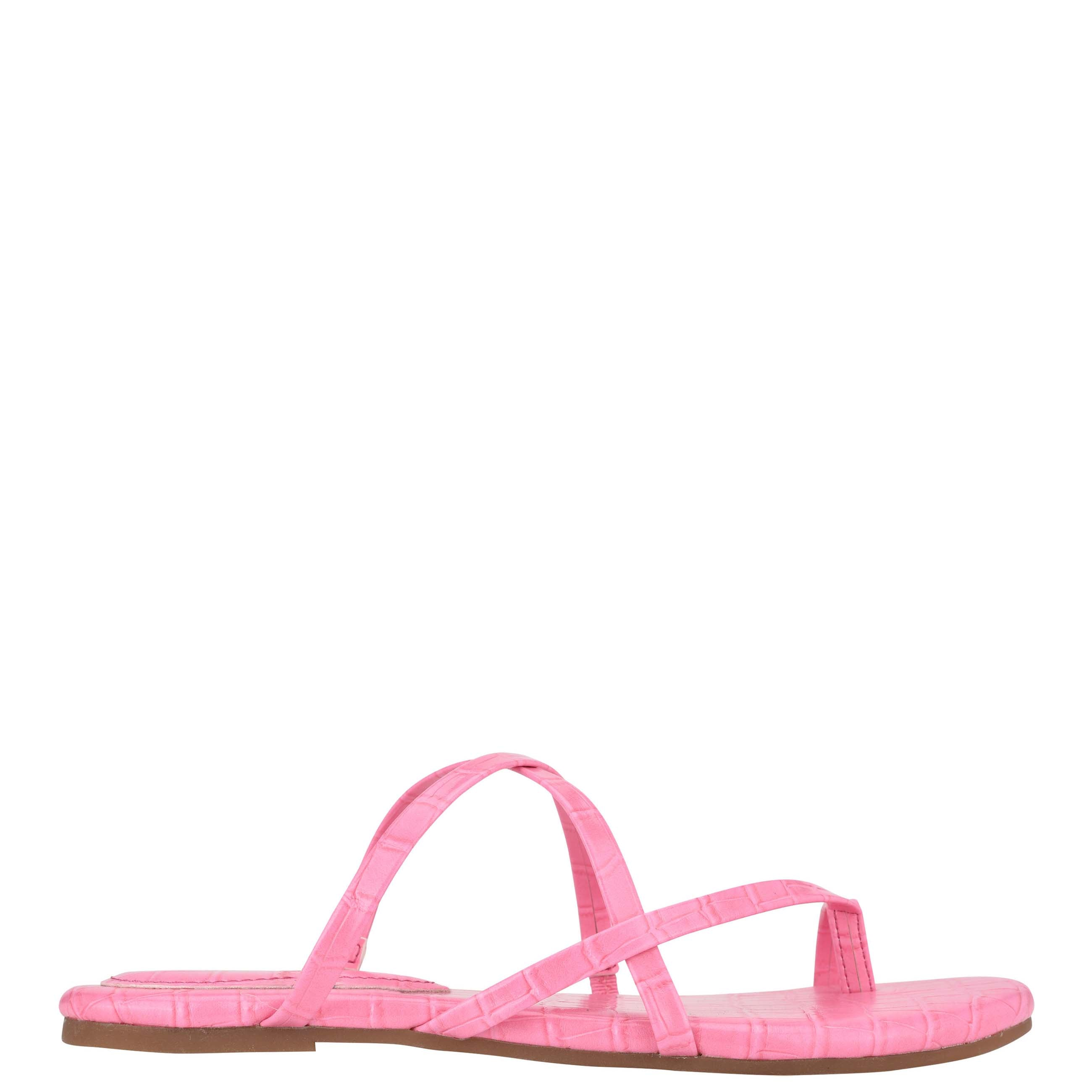 NINEWEST Brice Flat Toe Ring Slide Sandals