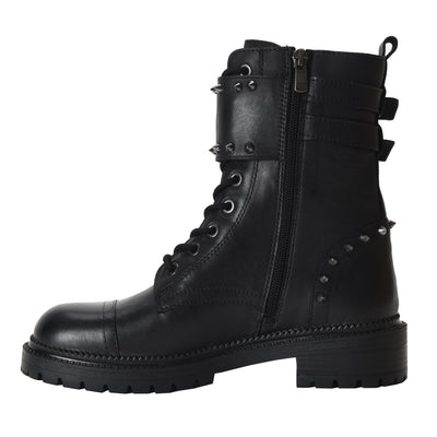 Collie Studded Combat Lug Sole Boots