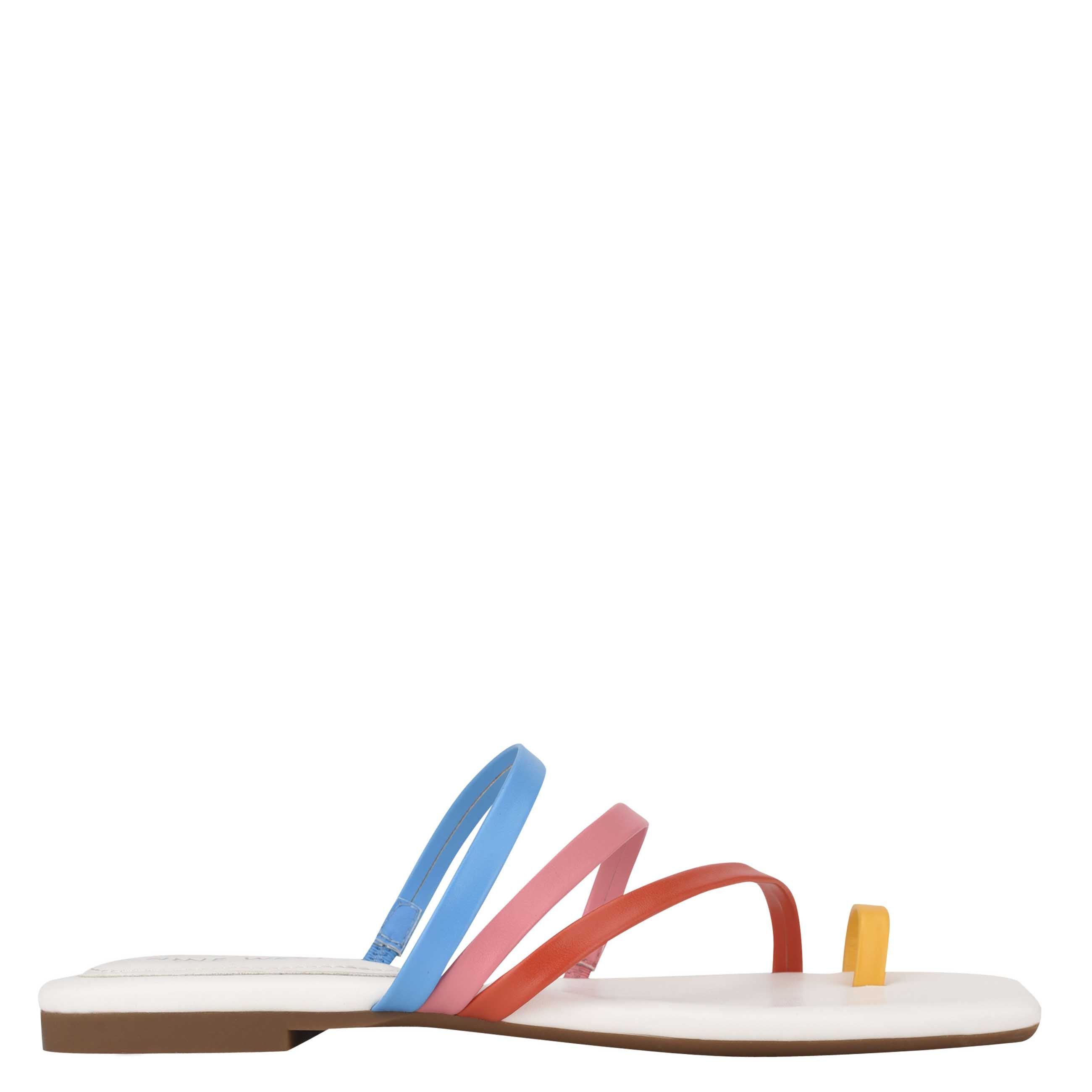 NINEWEST Darbie Flat Toe Ring Slide Sandals