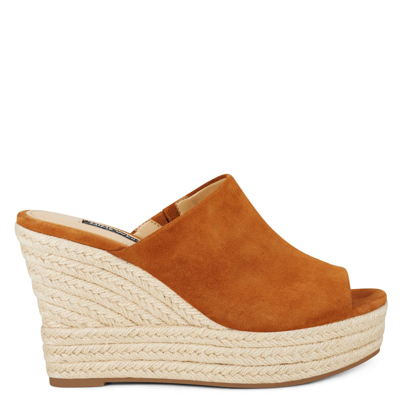 나인 웨스트 데나 에스파드류 샌들 NINE WEST Denna Espadrille Slide Sandals,Natural Suede