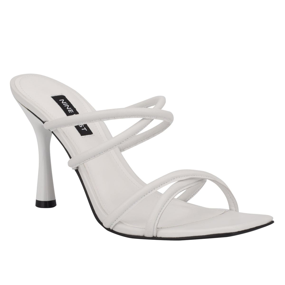 Fabiola Square-Toe Slide Sandals