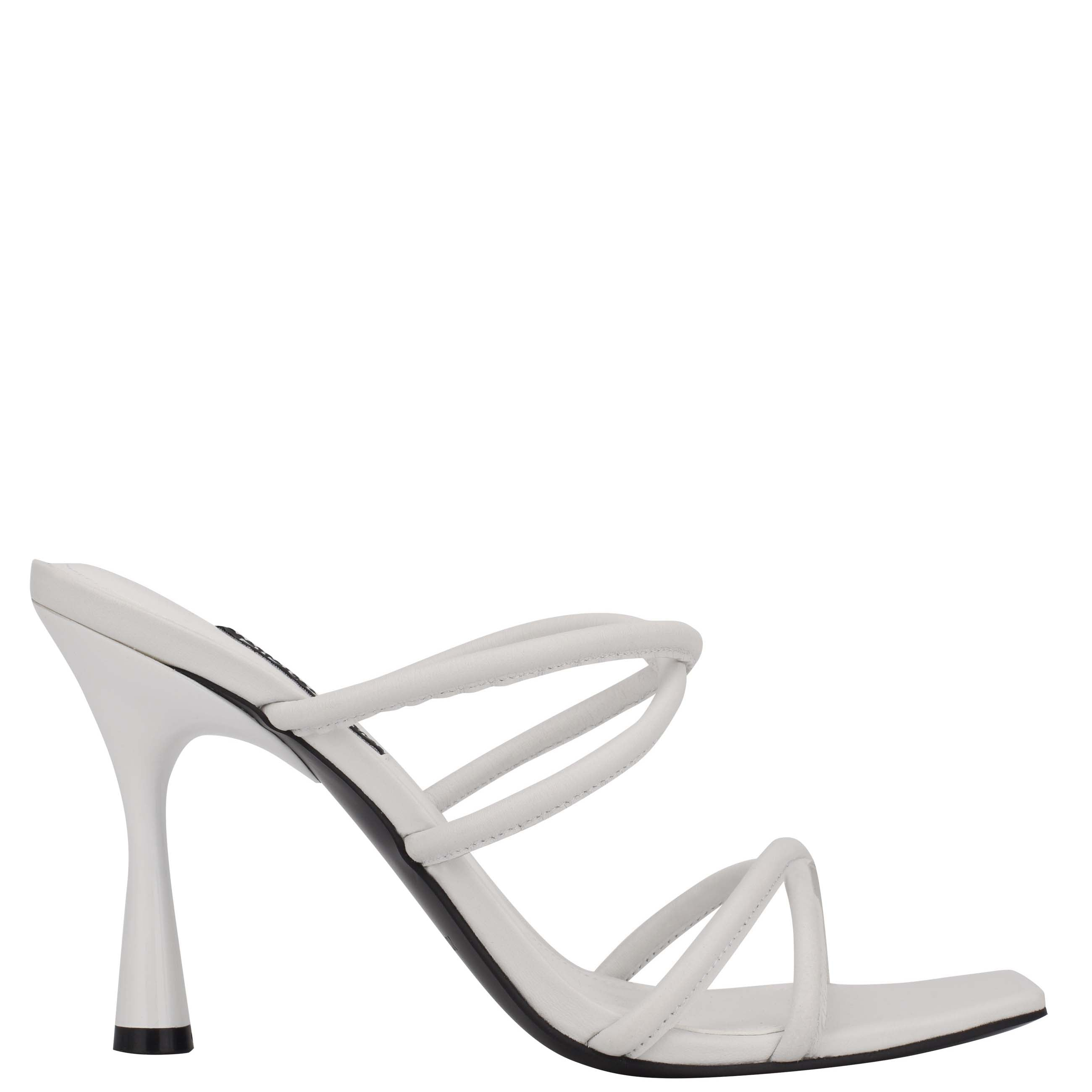 NINEWEST Fabiola Square-Toe Slide Sandals