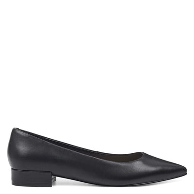 나인 웨스트 NINE WEST Fayth Ballet Flats,Black Leather