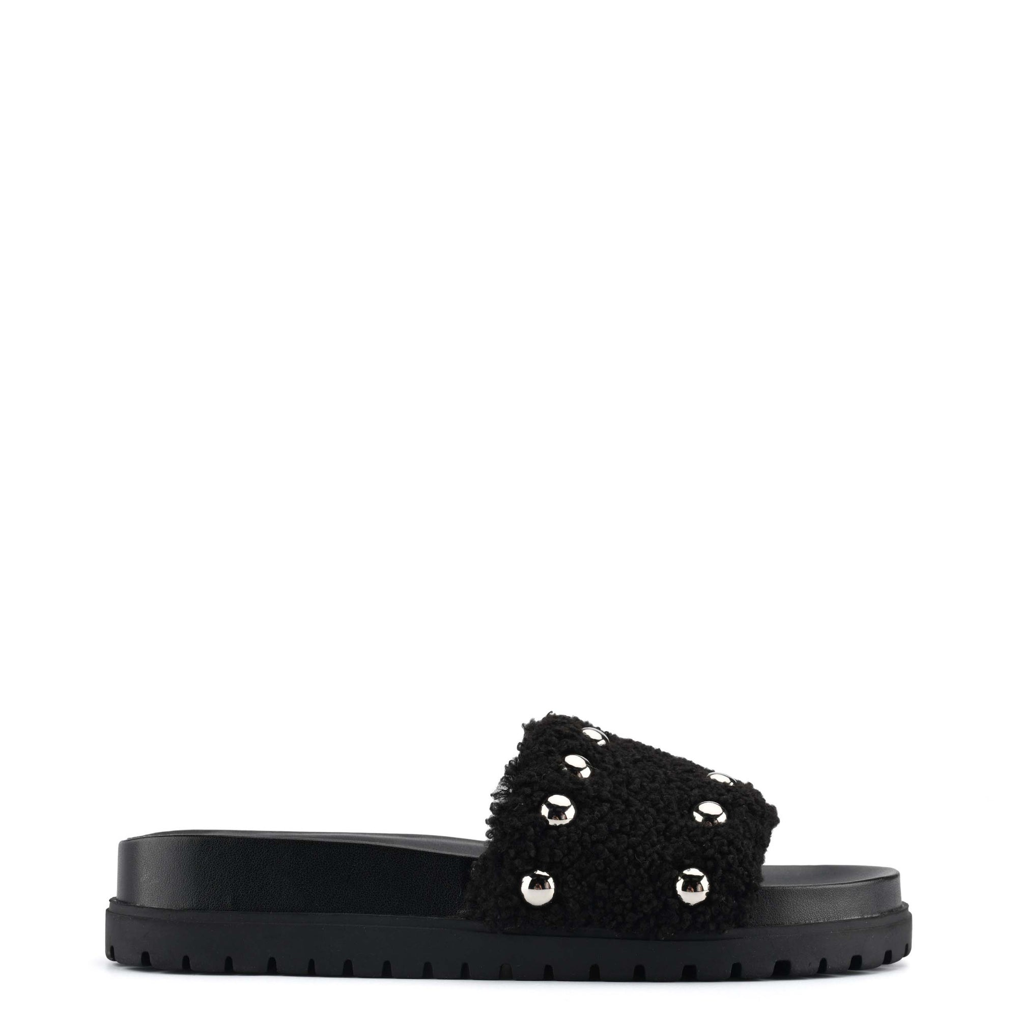 Freely Studded Flat Slide Sandals