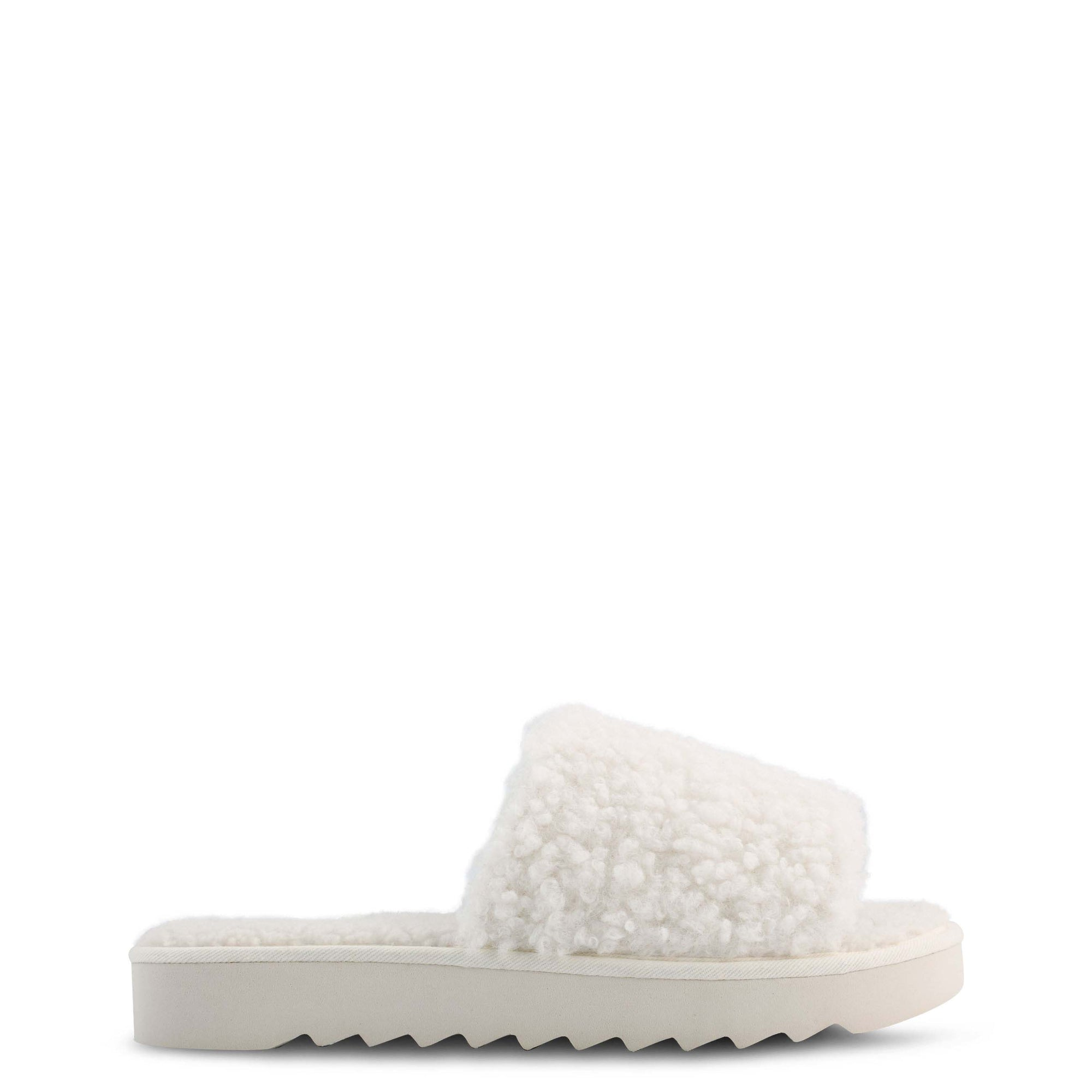 Fuzzie Cozy Flat Slide Sandals