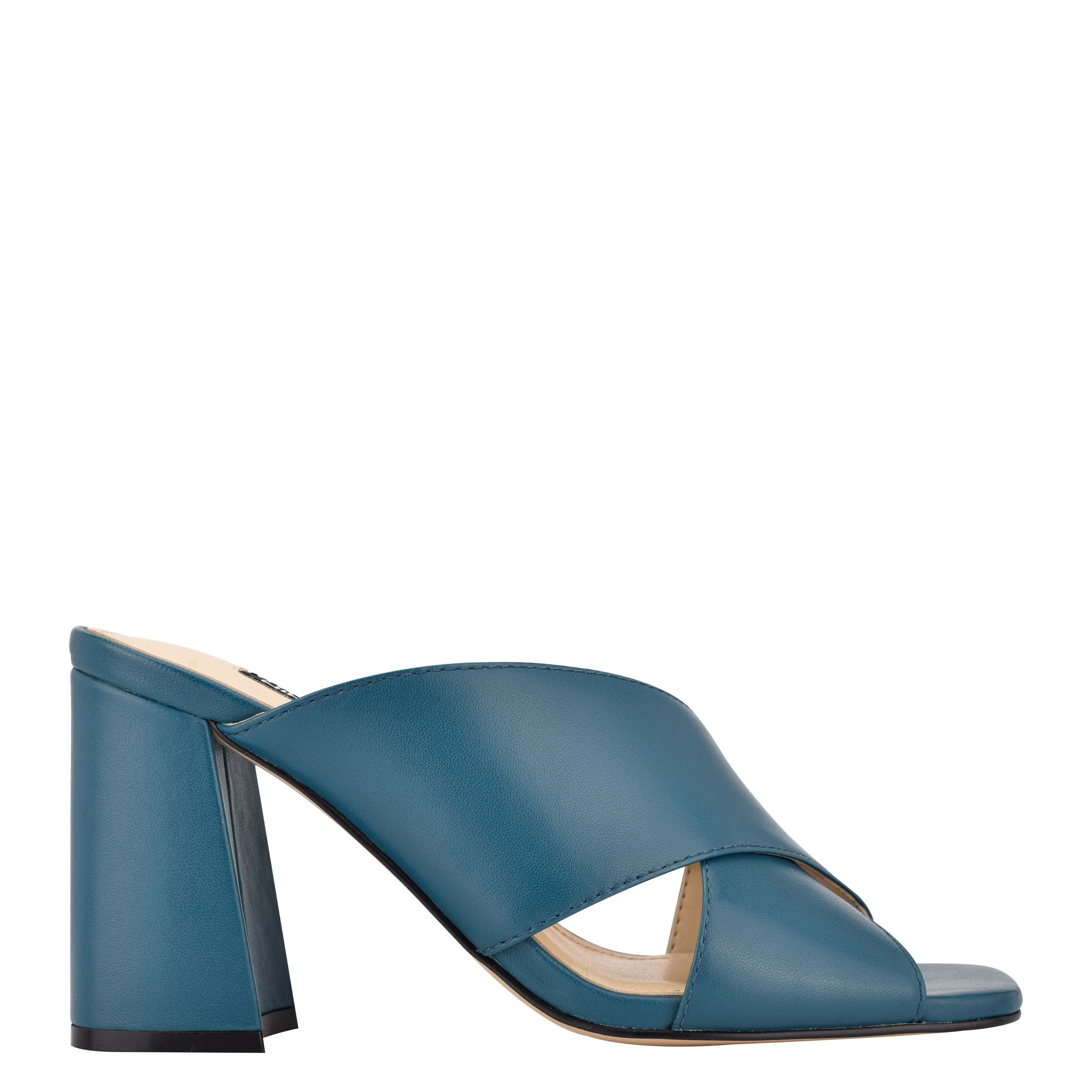 NINEWEST Gigi Block Heel Slide Sandals