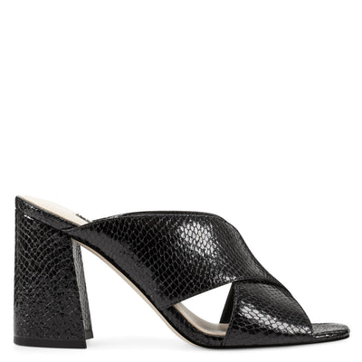 Gigi Block Heel Slide Sandals