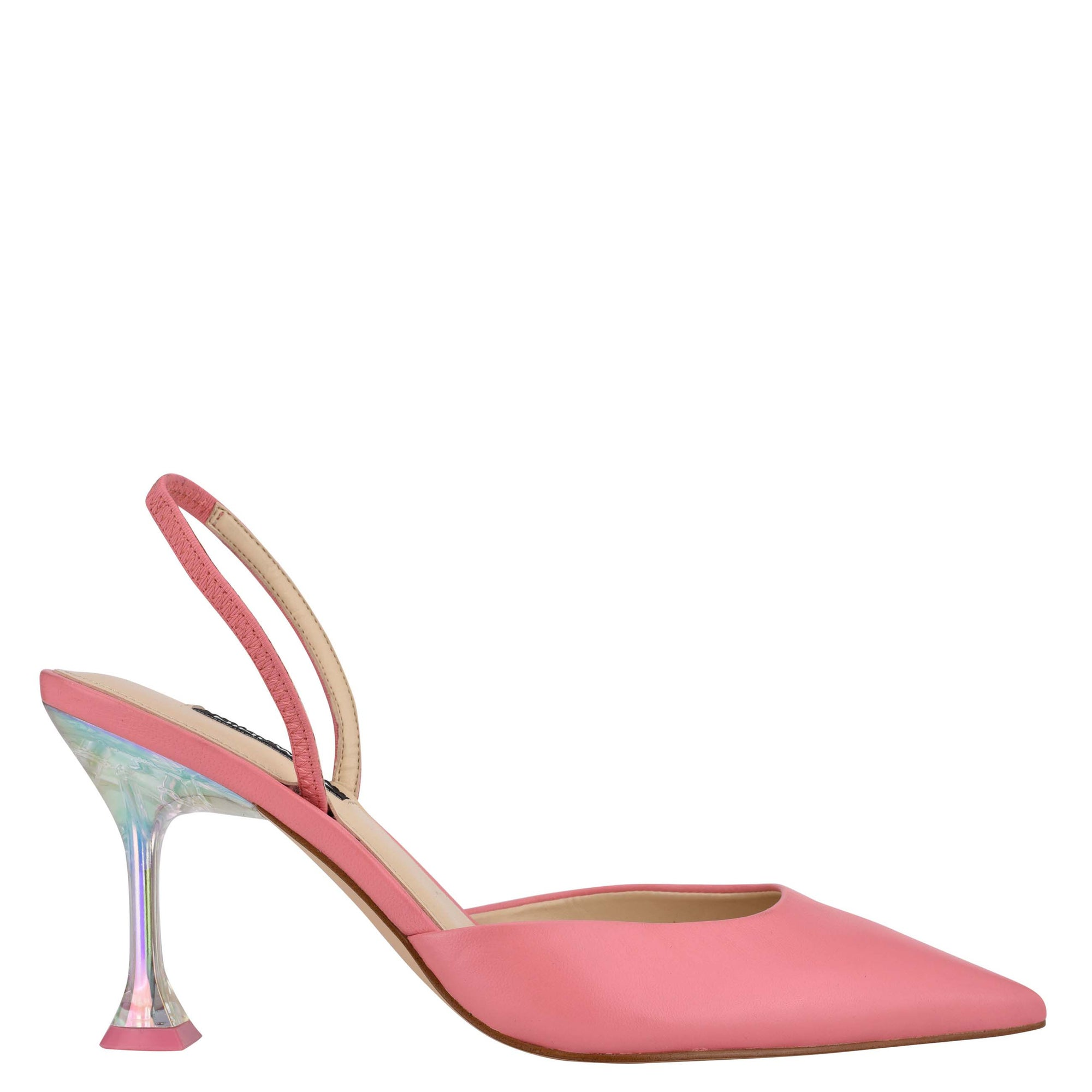 Happy Pointy Toe Heeled Slingbacks