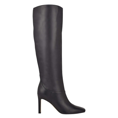 나인 웨스트 NINE WEST Jakke Heeled Boots,Black Leather
