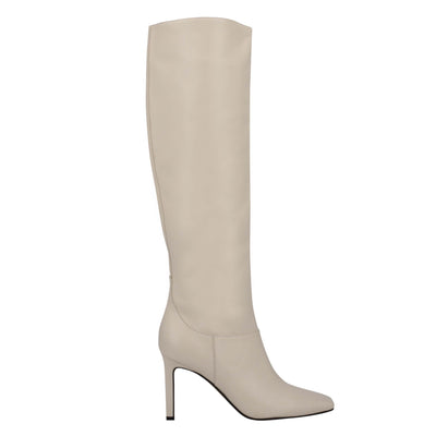 나인 웨스트 NINE WEST Jakke Heeled Boots,Ivory Leather
