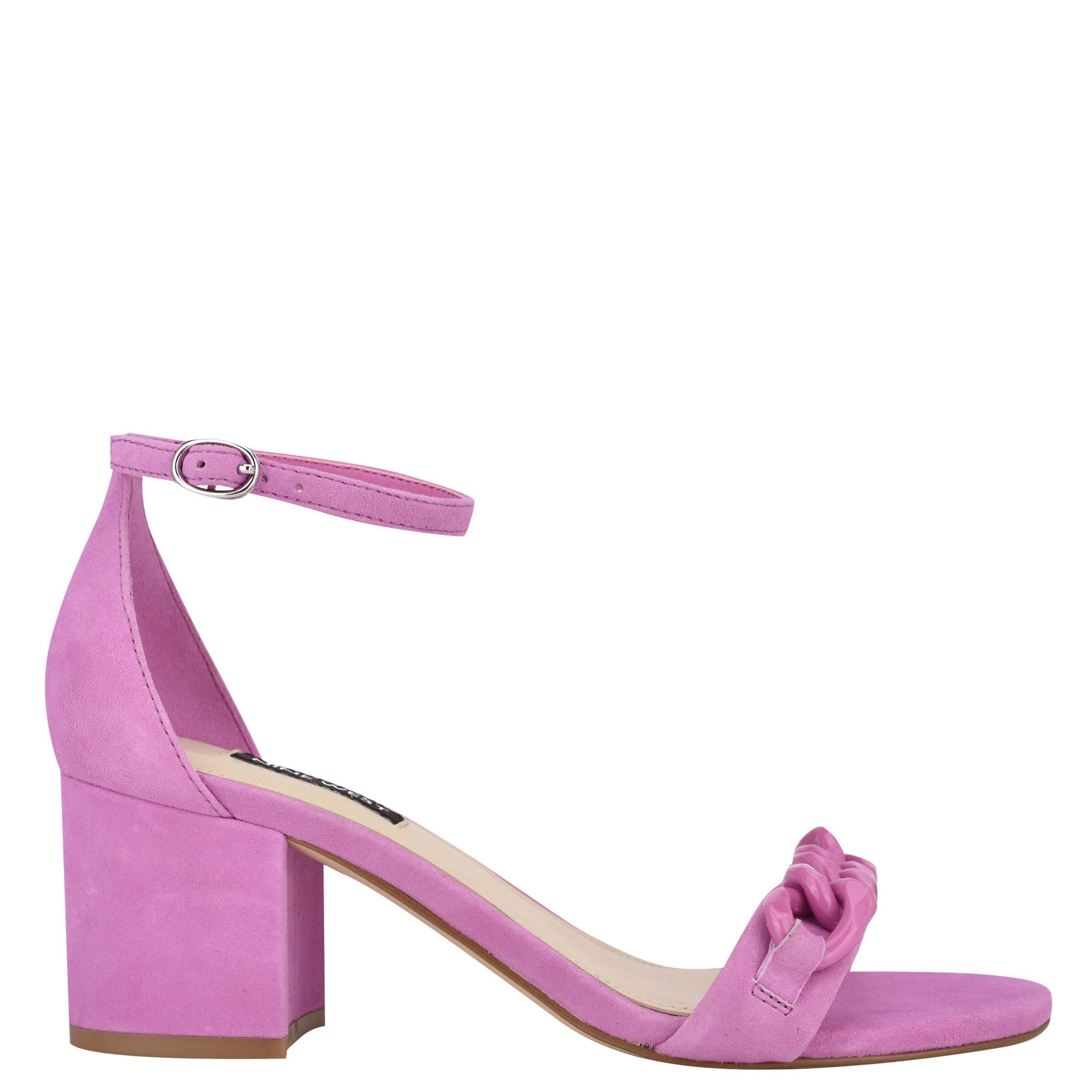 Kimba Ankle Strap Block Heel Sandals