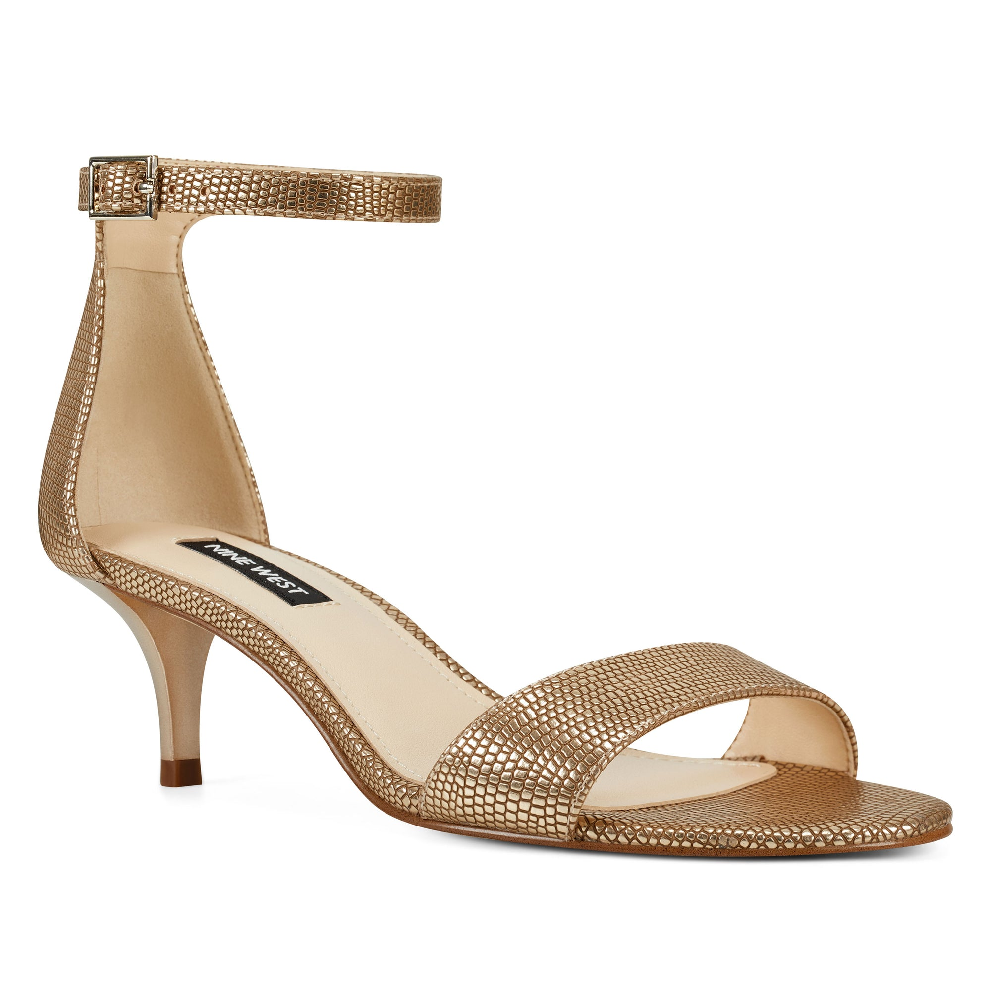 Nine West Womens Leisa Leather Open Toe Casual Ankle Strap Sandals