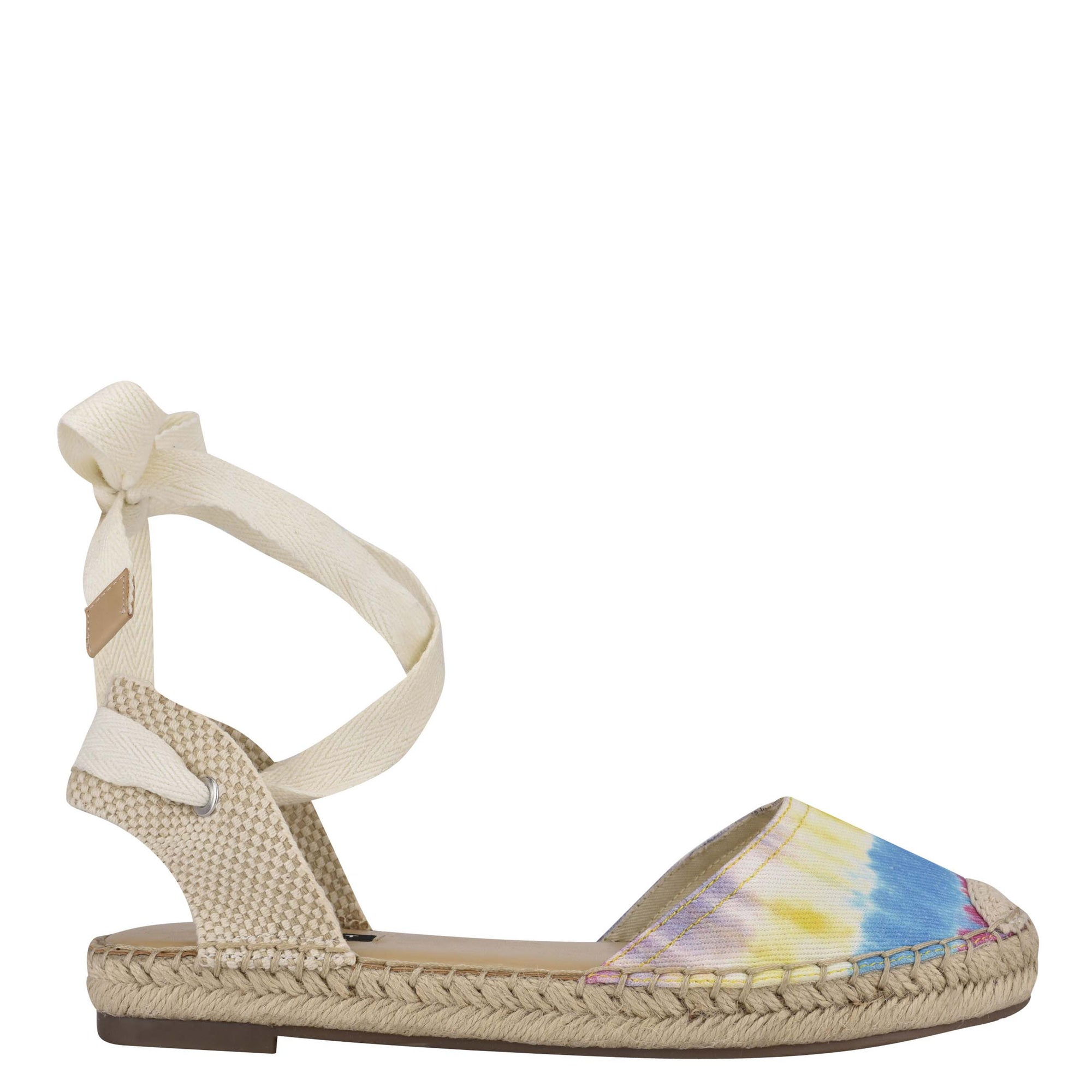 Mage Flat Ankle Wrap Espadrille Sandal