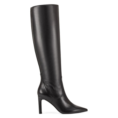 나인 웨스트 NINE WEST Maxim Heel Boots,Black Leather