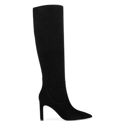 나인 웨스트 NINE WEST Maxim Heel Boots,Black Suede