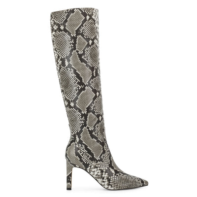 나인 웨스트 NINE WEST Maxim Heel Boots,Gray Multi Snake Print