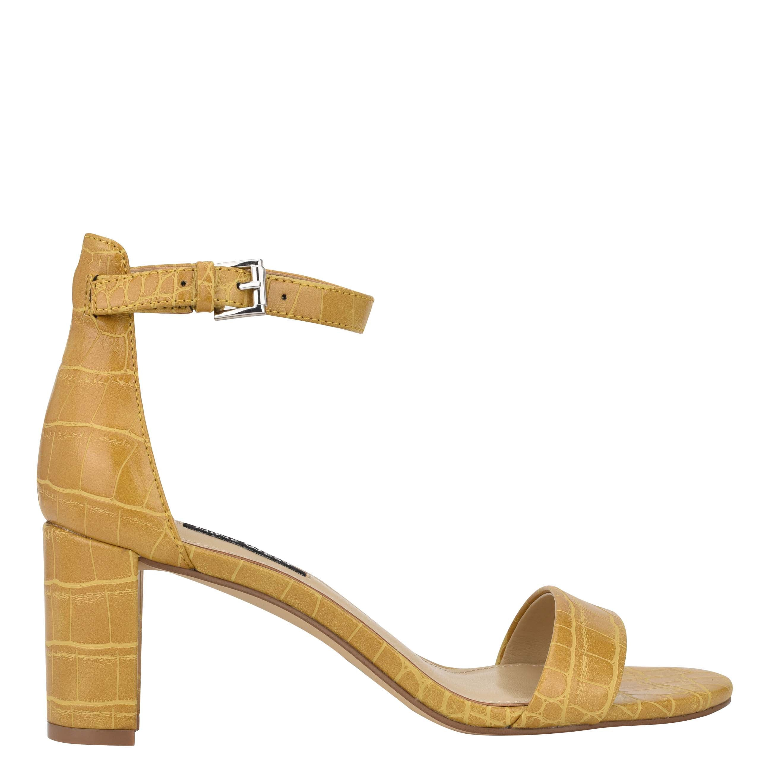 NINEWEST Pruce Ankle Strap Block Heel Sandals