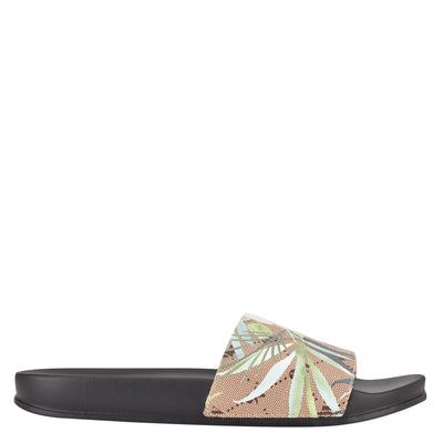 나인 웨스트 NINE WEST Sandbar Flat Slide Sandals,Floral