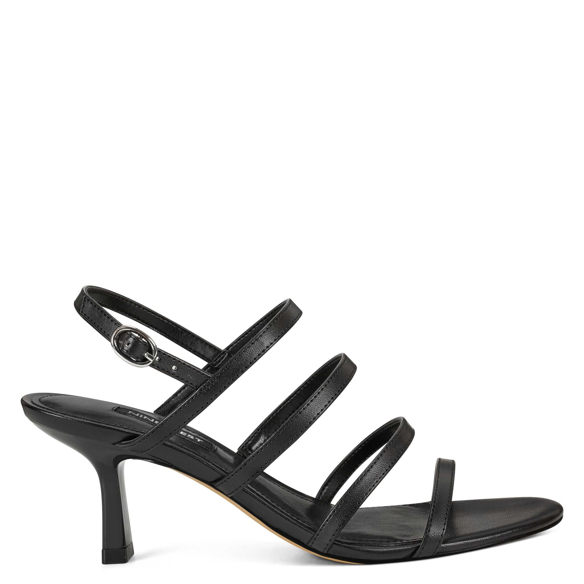 Smooth Heeled Strappy Sandals