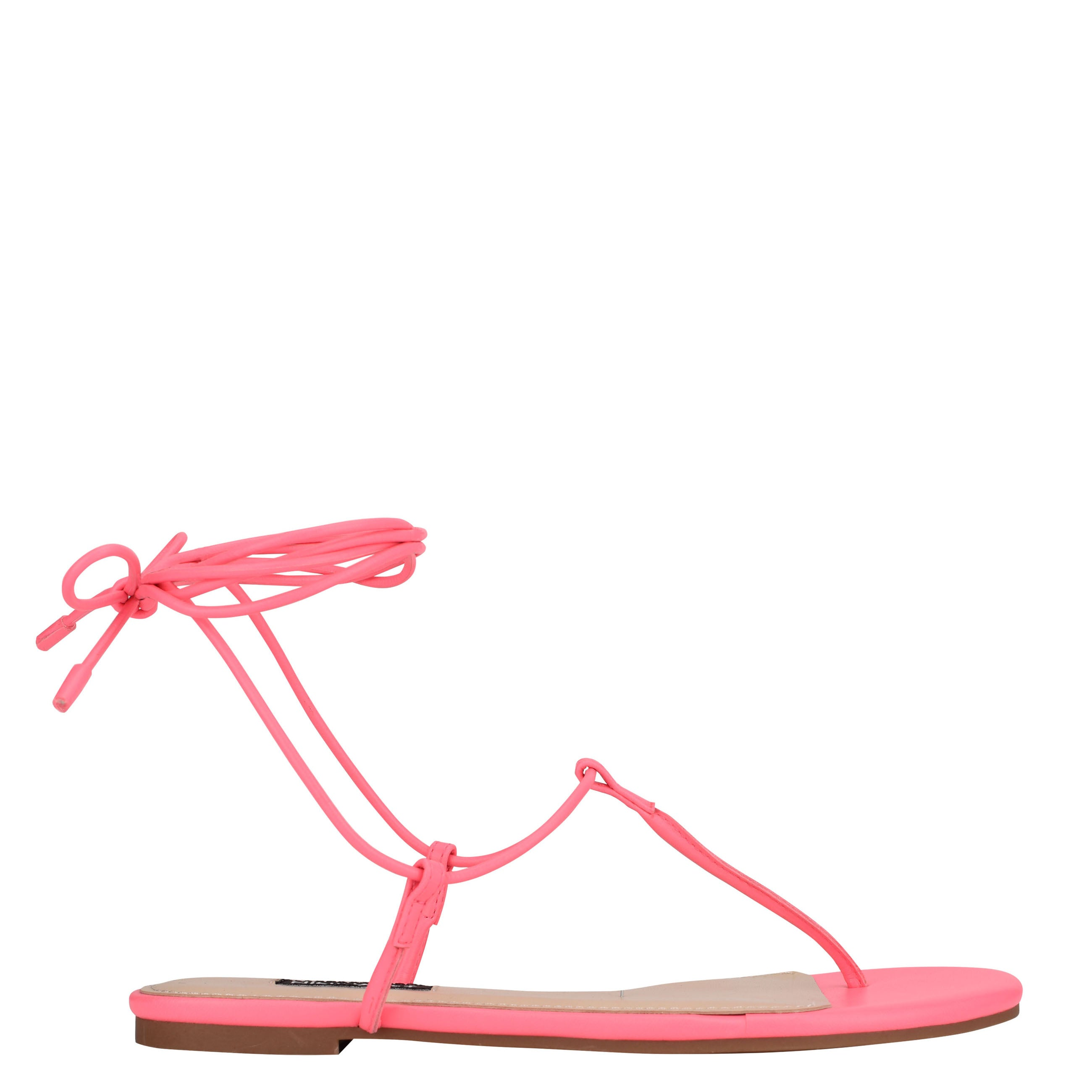 NINEWEST Tella Ankle Wrap Flat Sandals