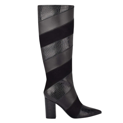 나인 웨스트 NINE WEST Ursala Dress Boots,Black Multi