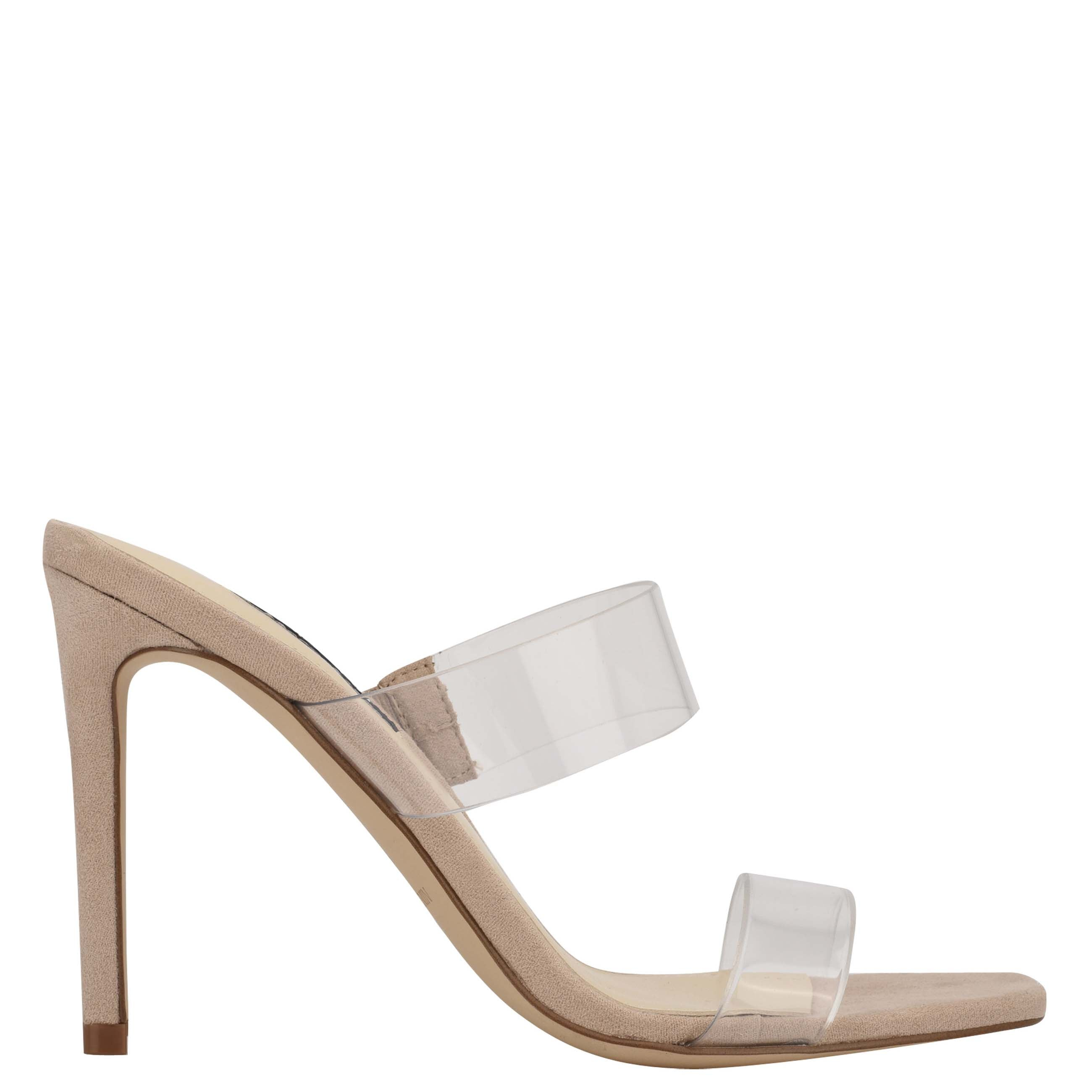 NINEWEST Zarley Heeled Slide Sandals
