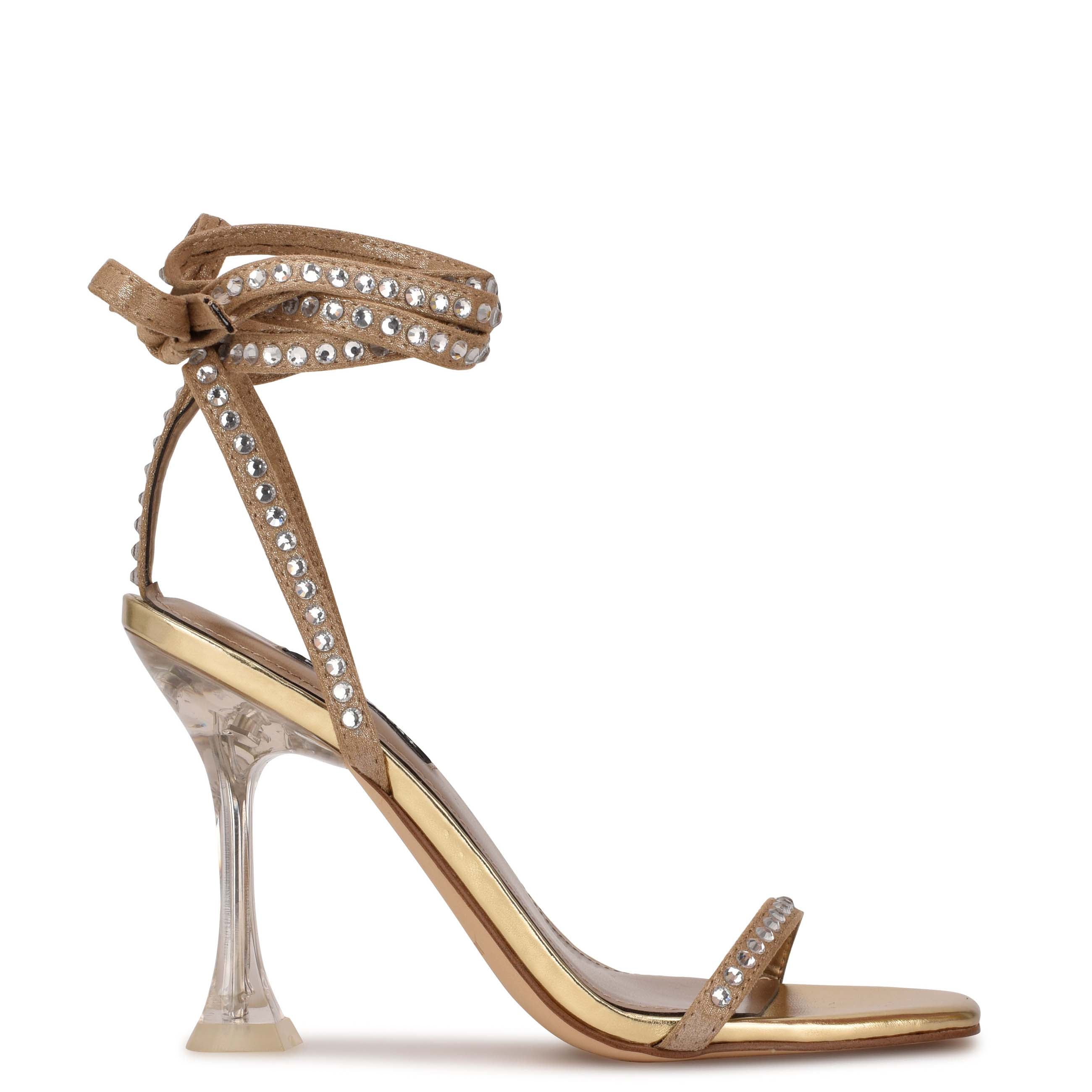 NINEWEST Zing Ankle Wrap Sandals