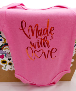 New Born Onesie - Made with Love
