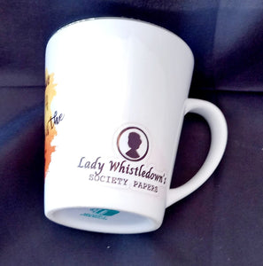 Bridgerton - Lady Whistledown cone mug