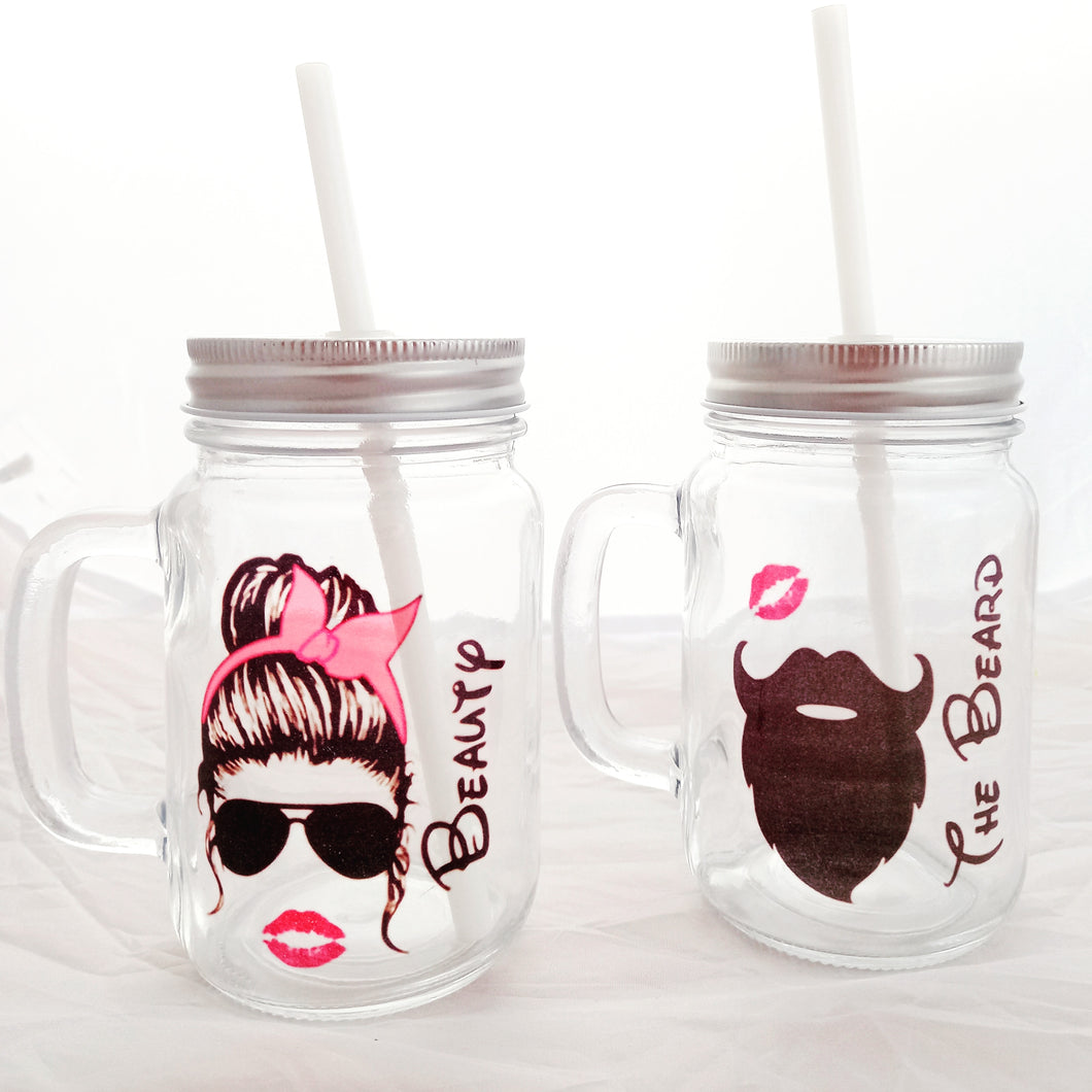 Beauty and the Beard Jar set
