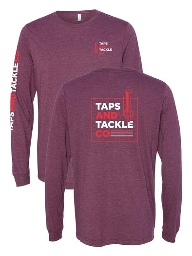 Long Sleeve Tee w/ arm writing - Taps and Tackle Co.
