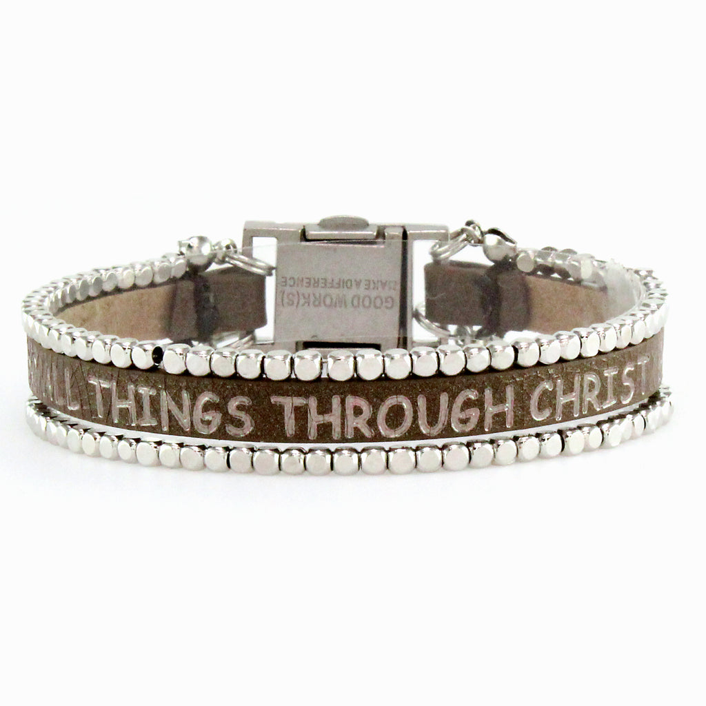 I Can Do All Things Through Christ...Bracelet