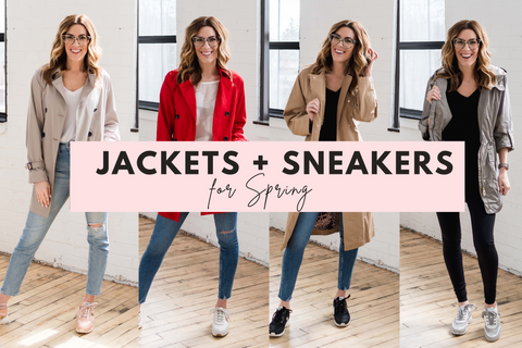 Jackets + Sneakers for Spring