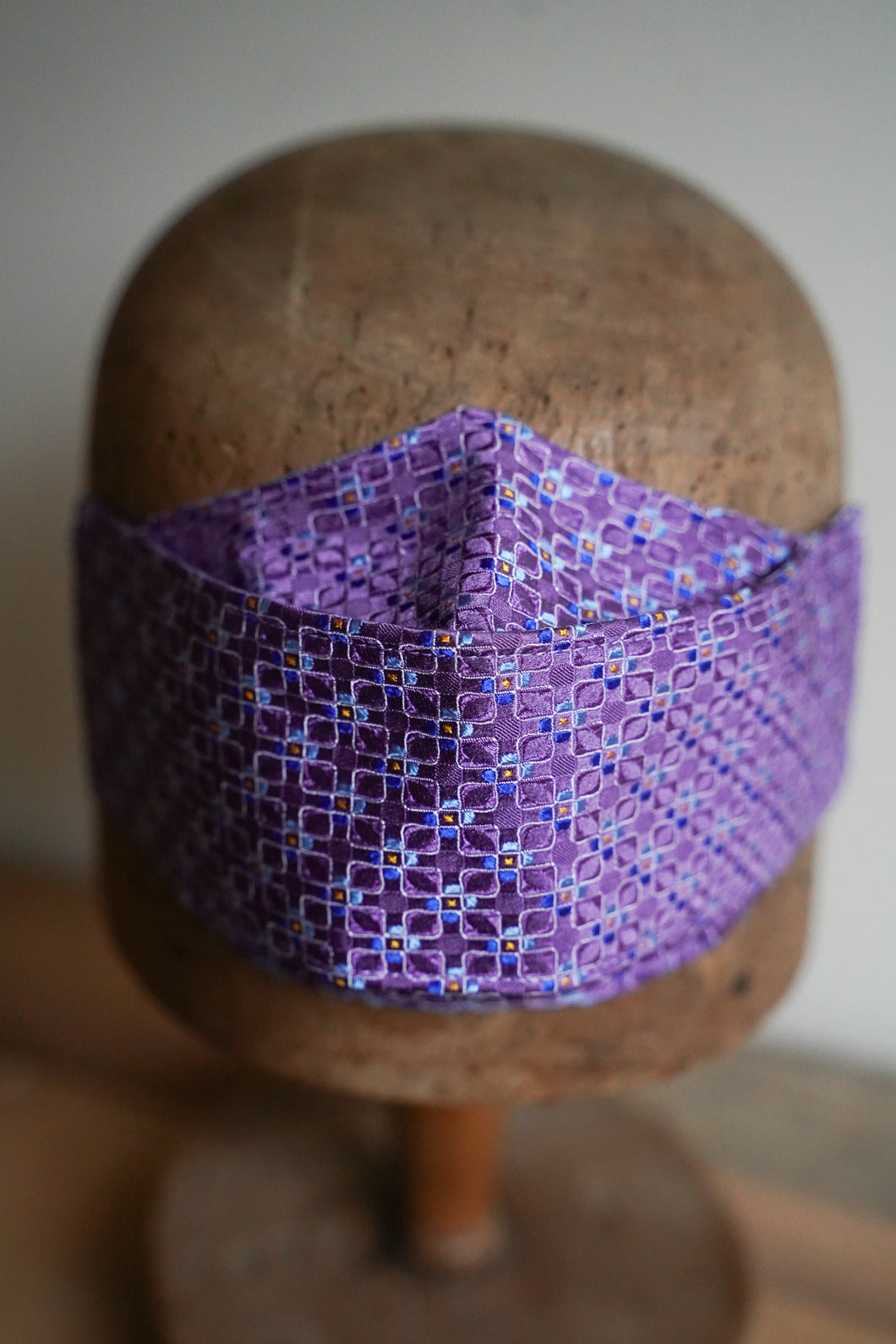 SOLD Triple Layer Protective Mask - Geometric Purple