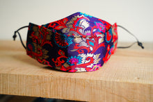 Load image into Gallery viewer, SOLD Triple Layer Protective Mask - Purple and Red Floral