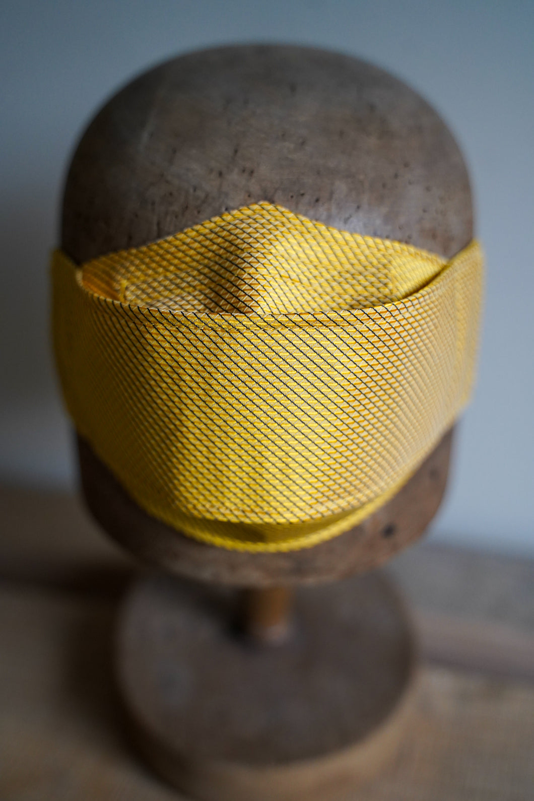 SOLD Triple Layer Protective Mask - Yellow with Black Stripe