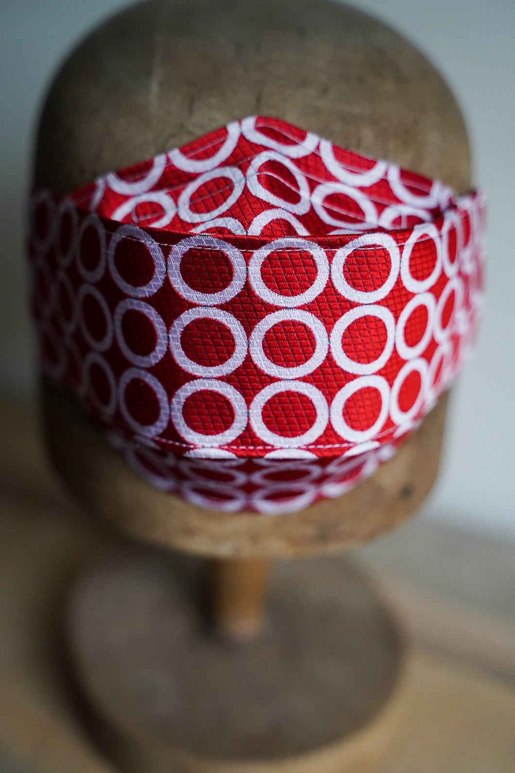 SOLD Triple Layer Protective Mask - Red and White