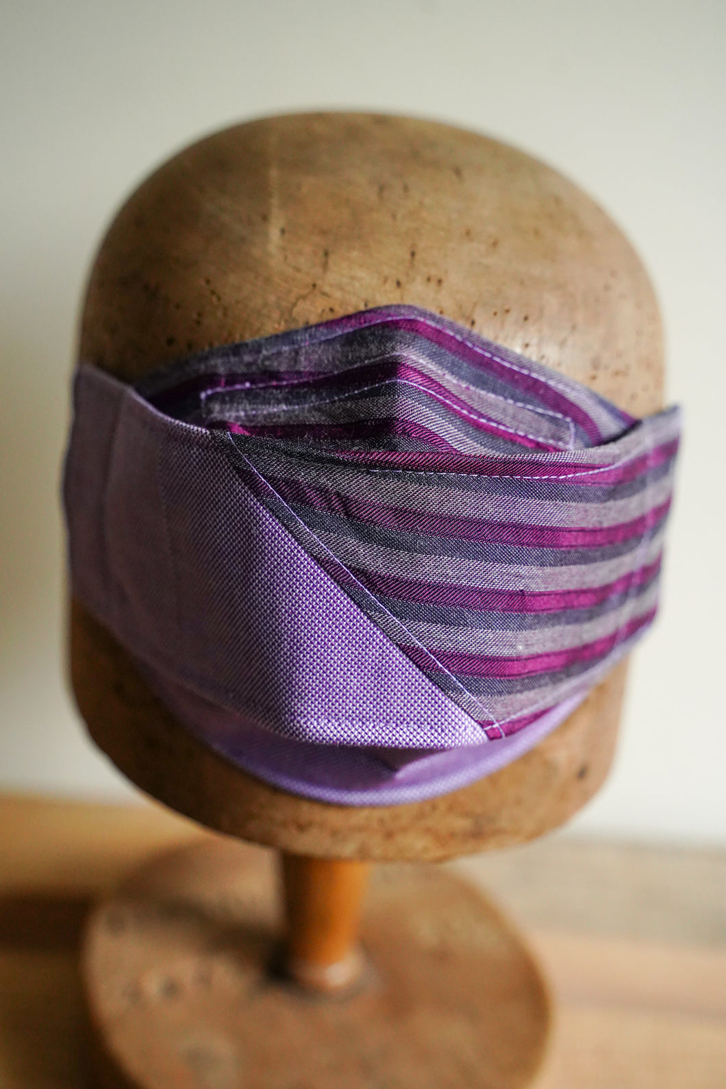 SOLD Triple Layer Protective Mask - Purple Stripe