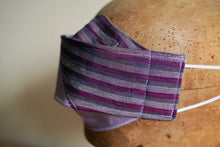 Load image into Gallery viewer, SOLD Triple Layer Protective Mask - Purple Stripe
