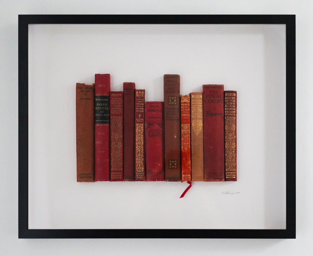 SOLD Floating Library - Red Vintage