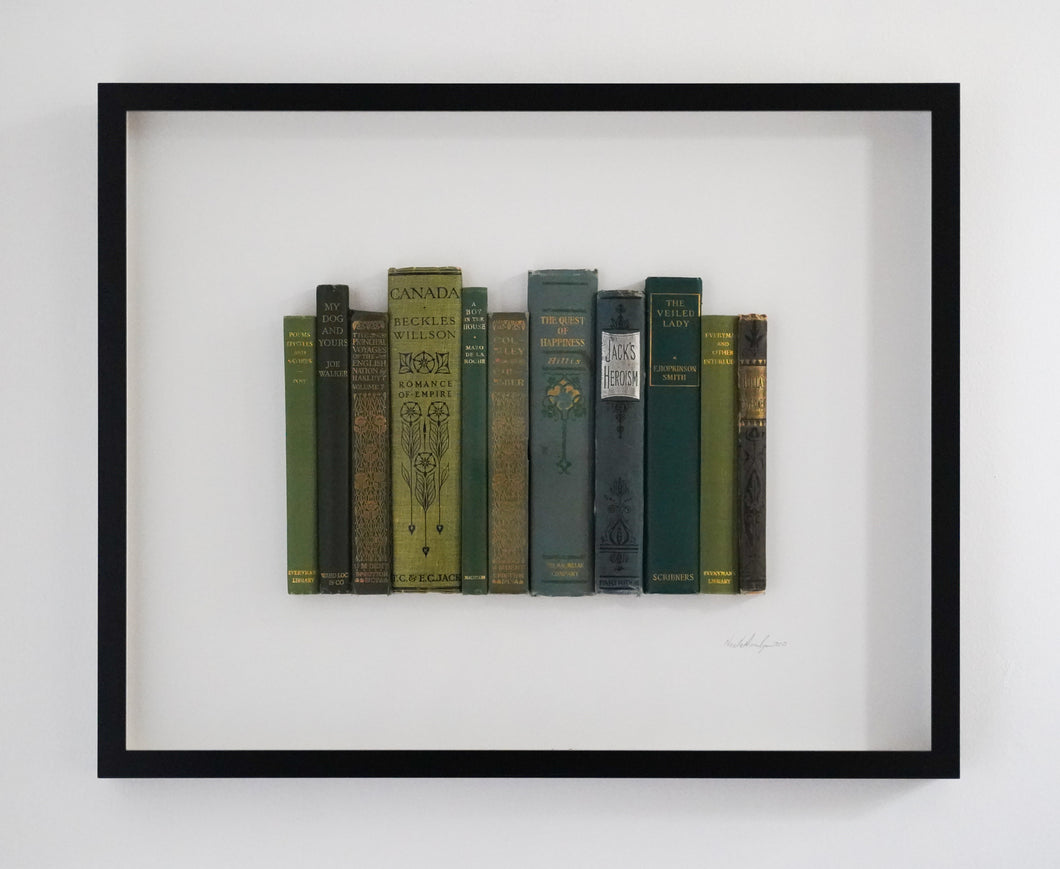 SOLD Floating Library - Green Vintage