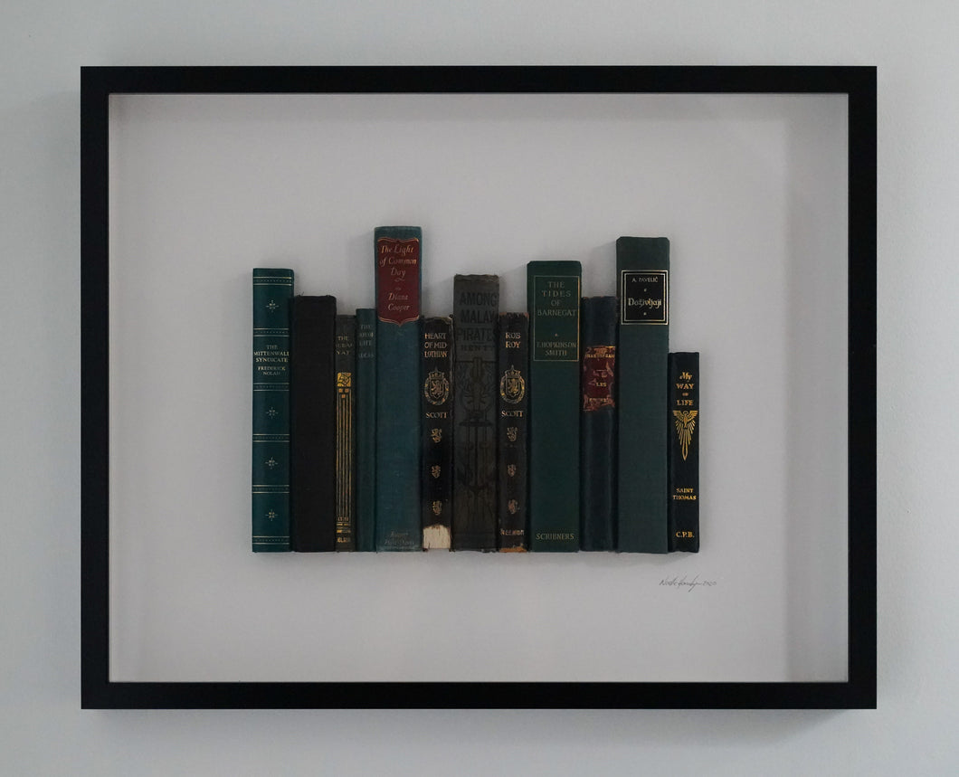 Floating Library - Turquoise Vintage Poetry