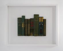 Load image into Gallery viewer, SOLD Floating Library - Vintage Green & Burgundy