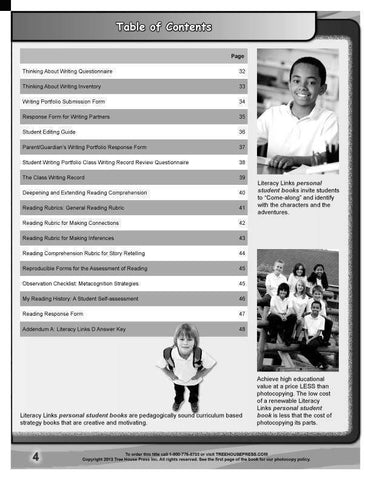 Image of Literacy Links C Teaching and Assessment Guide sample page