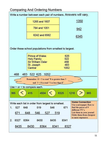Image of Canadian Math 4 Answer Book (Download)