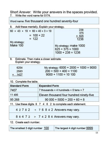 Canadian Math 5 Answer Book (Download)