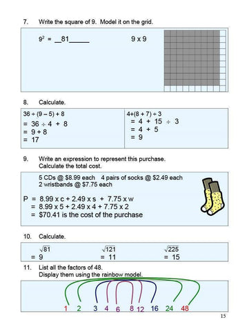 Canadian Math 7 Answer Book (Download)