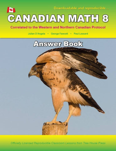 Canadian Math 8 Answer Book (Download)