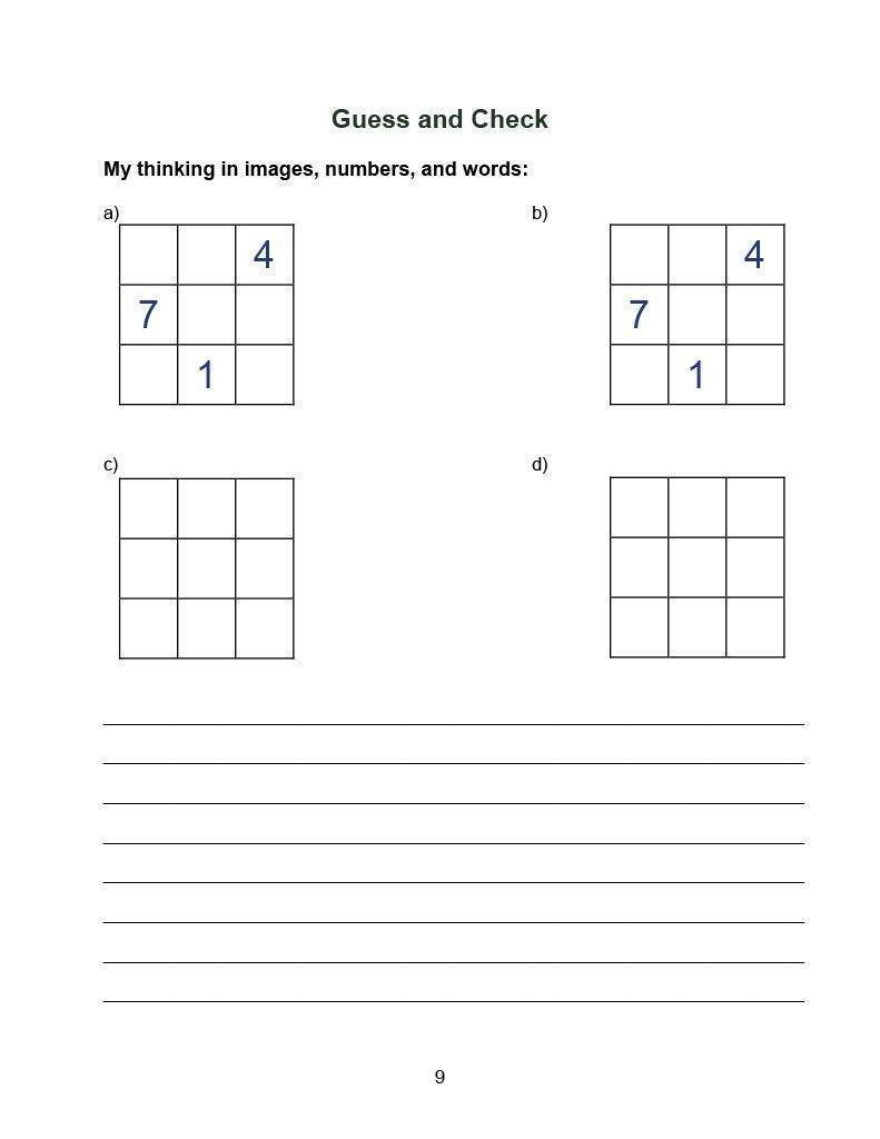 Downloadable Math Lessons in Problem Solving